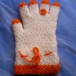 turuncu beyaz yüzüklü eldiven örneği