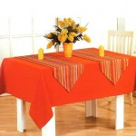 turuncu kare masa örtüsü modeli