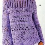 uzun kollu mor merserize kazak modeli