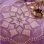 yıldız desenli komidin danteli örneği