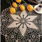 yıldız motifli dantel şömen tabla modeli