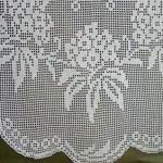 yapraklı çiçek desenli kanar dantel modeli
