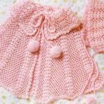 yavruağzı renkli bereli bebek pelerin modeli