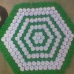 yeşil beyaz kasnak lif örneği