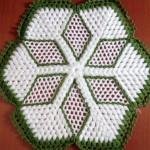 yeşil beyaz yıldızlı kasnak lif örneği