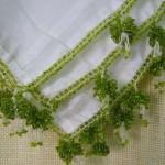 yeşil boncuklu tülbent oyası örneği