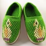 yeşil desenli çetik örneği