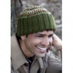 yeşil kahverengi erkek bere modeli