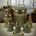 yeşil renkli modern banyo seti modeli