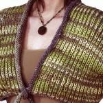 yeşil selanik örgülü bolero modeli