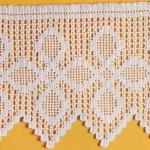 yonca desenli dantel çarşaf kenarı modeli