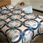 yuvarlak desenli patchwork yatak örtüsü modeli