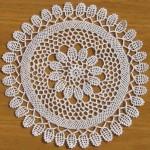 yuvarlak gümüşlük dantel örneği
