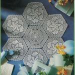 yuvarlak motifli dantel sehpa örtüsü modeli