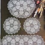 yuvarlak motifli gümüşlük dantel örneği