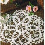 yuvarlak yıldız desenli komidin danteli