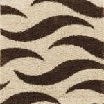 zebra desenli shaggy halı modeli