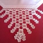 zincir motifli dantel mutfak peçetesi modeli