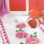 çiçek desenli kumaş boyama modeli