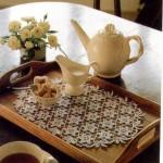 çiçekli dantel tepsi örtüsü modeli