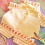 önden düğmeli kremrengi örgü bebek tulumu