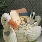 ördek şeklinde örgü sabunluk modeli