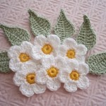 örgü beyaz çiçekler modeli