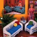 örgü oyuncak bahçe koltukları