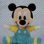 örgü oyuncak mickey mouse modeli