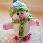 şapkalı atkılı amigurumi kardan adam modeli