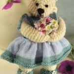 şirin elbiseli örgü sevimli ayıcık modeli
