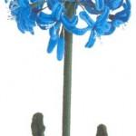 açık mavi örgü çiçek modeli