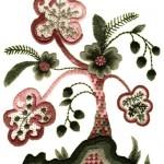 ağaç desenli çin iğnesi nakışı