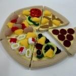amigurumi lezzetli pizza modeli