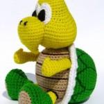 amigurumi mario bros kaplumbağa modeli