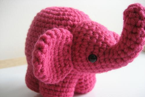 amigurumi pembe oyuncak fil modeli By nisa4
