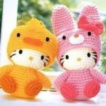 amigurumi sarı pembe sevimli oyuncaklar modeli