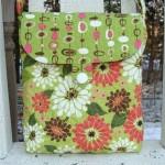 aplike yapılmış çiçekli kumaş çanta modeli