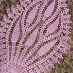 badem motifli pembe dantel tepsi örtüsü