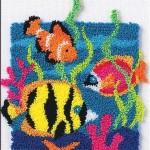 balık desenli rengarenk punch nakışı modeli