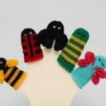 bal arılı uğur böcekli örgü parmak kukla modelleri