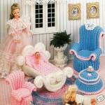barbienin örgü bebek odası takımı oyuncağı modeli