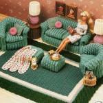 barbinin örgü oturma odası oyuncağı modeli