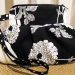 beyaz çiçek desenli kumaş çanta modeli