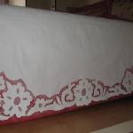 beyaz iş yatak çarşafı modeli