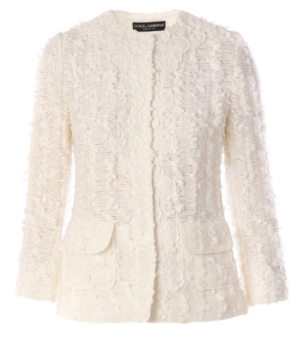 cepli beyaz abiye örgü bayan ceket modeli