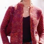 cepli kırmızı abiye örgü ceket modeli