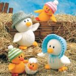 civcivler ve ailesi örgü oyuncak örnekleri