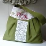 dantelli fıstık yeşili kumaş çanta modeli