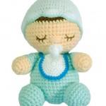 emzikli uyuyan örgü oyuncak bebek modeli